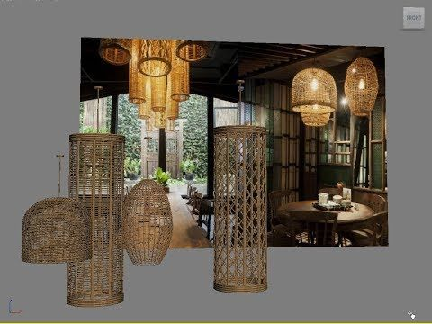 3ds Max Basic Modeling Rattan Celling Lamp Download 3d Model Free Youtube 3ds Max 3ds Max Tutorials 3d Model