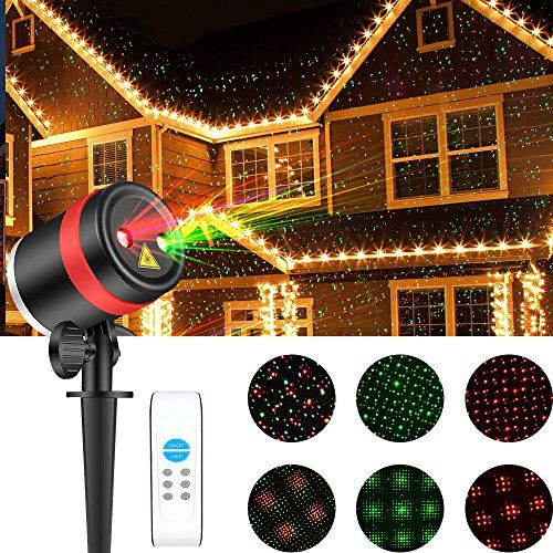 Skonyon Christmas Laser Lights Show Red And Green Star Ip65 Waterproof Outdoor Laser Light Projector Lightswith Remote For Christmas Holiday Party Landscape Laser Lights Projector Laser Christmas Lights Laser Lights