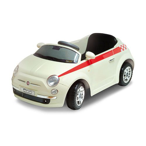 Coche de batería para montar de color blanco Fiat 500 Mp3 White