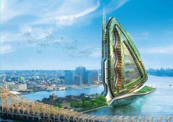 Stadt der Zukunft Salat im Keller, Weizen im Hochhaus