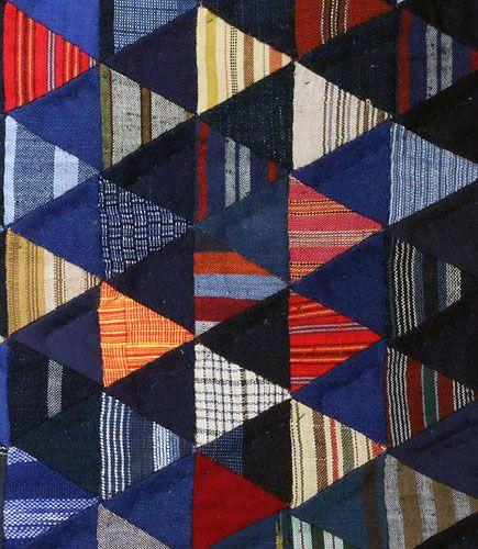 150111_012  Shima to Aizome - Rayures et Indigo - Mini quilts en cotons japonais