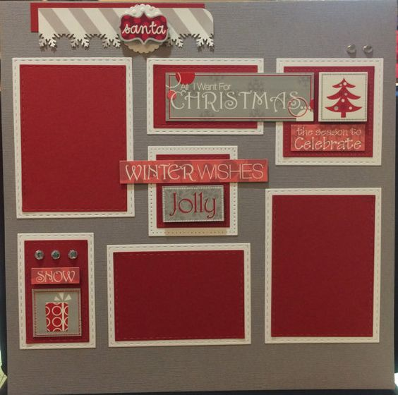 12x12 premade All I want for Christmas scrapbook by CraftsbyAnn