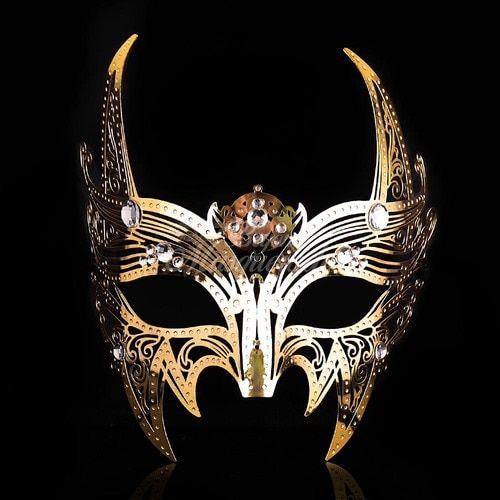 Viking Skull Warrior Nordic Masquerade Eye Mask Venetian Adult Costume Accessory
