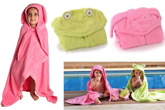 Minene Bath Buddy and Hooded Towels in many colors and animals are on sale up to 53% off today!