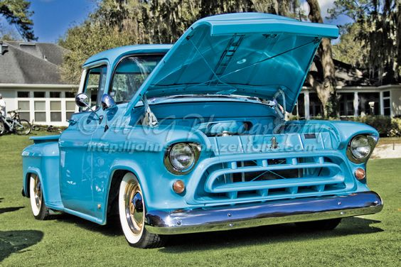 Classic Truck.  Cool color combo.