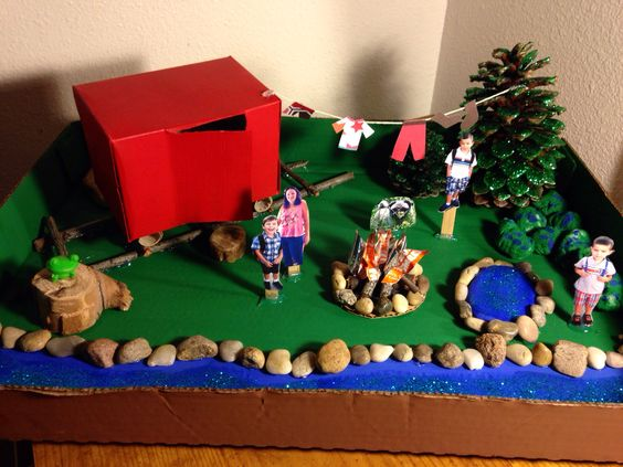 Kids Diorama With Details: Crafts And Things I've Actually