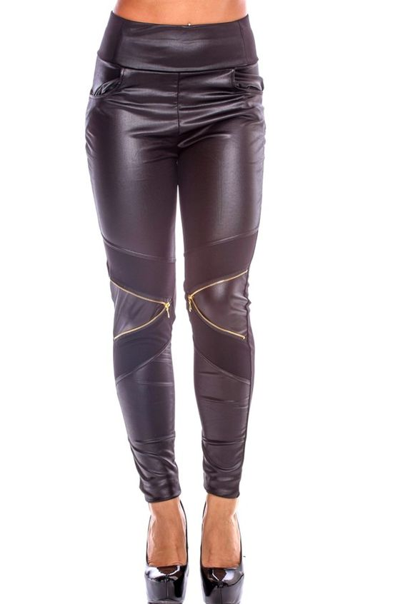 sexy leggings#black leggings#faux leather leggings#leather ...