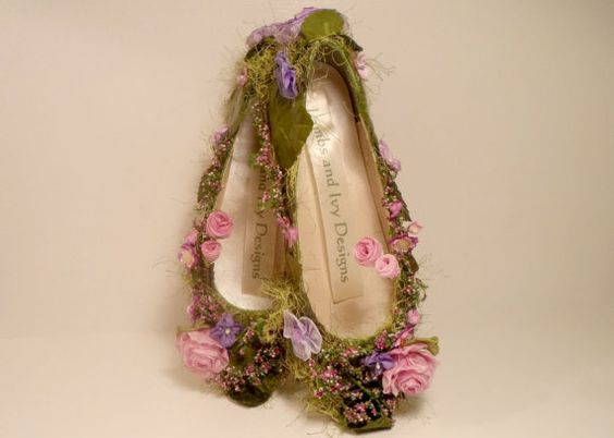 Woodland Fairy Nymph Garden Shoes Forest by lambsandivydesigns