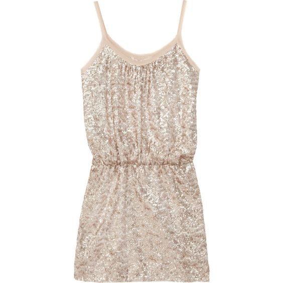 Rebecca Taylor Sequin-embellished fine-knit mini dress ($277 ...