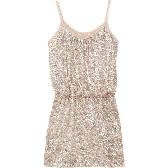 Rebecca Taylor Sequin-embellished fine-knit mini dress ($277 ...
