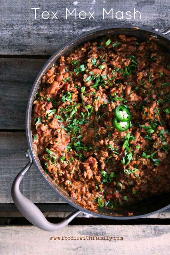 pinto beans, seasoned browned ground beef, and crispy bacon simmered ...