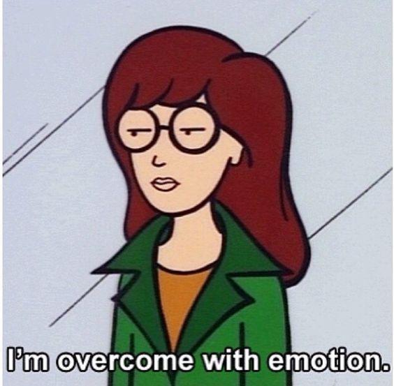 Estoy abrumada por la emoción.