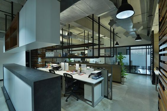 Loft office space design design eco chic loft of for Office design malaysia