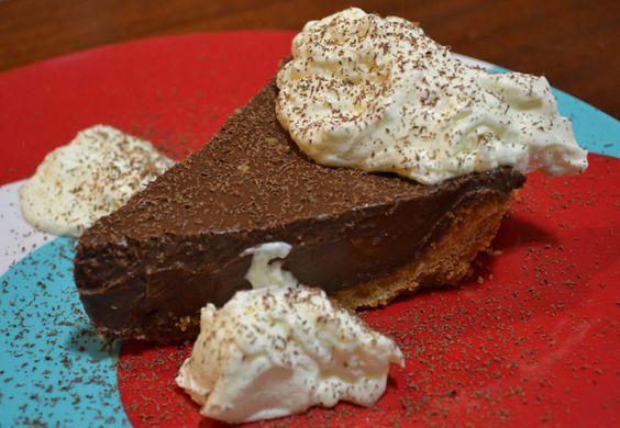 Gone to Heaven Dark Chocolate Pie