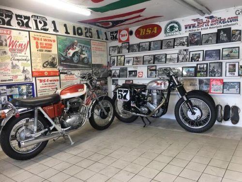 Wetsteve3 Two Rare Bsa Motorcycles In Britbike Museum A70 Bsa Motorcycle Custom Bikes Motorcycle