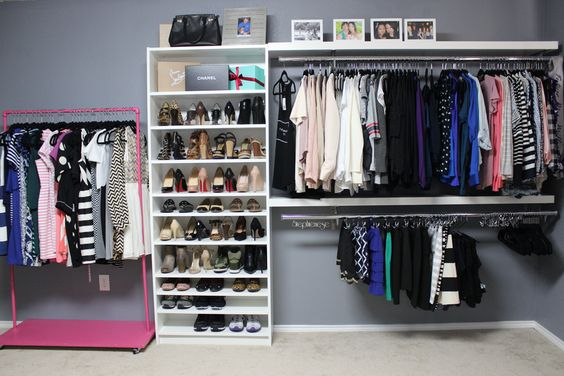 How to turn a spare bedroom into a dressing room or walk in closet diy walk in closet dressing - How to turn a closet into a walk in dressing ...