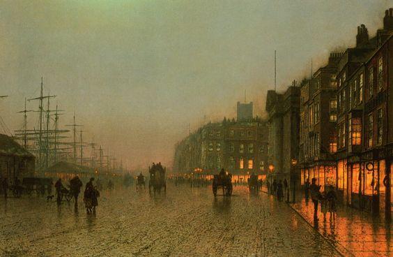 John Atkinson Grimshaw - Liverpool from Wapping (circa 1875). Philadelphia Museum of Art