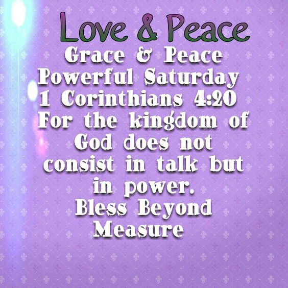 Grace & Peace Powerful Saturday
