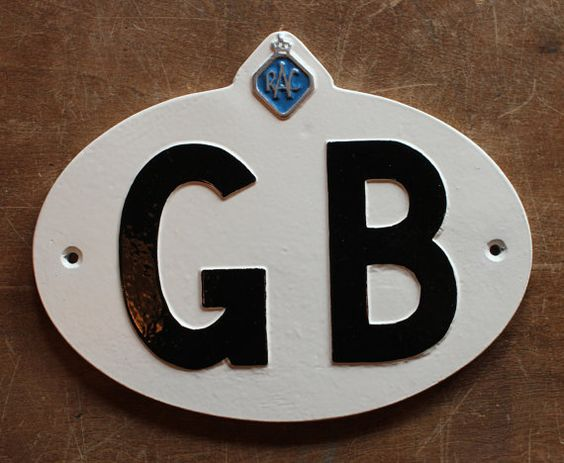 Vintage GB Touring Badge  Old Antique Style Garage by YesterHomeUK