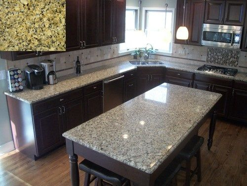 Used Countertops 10. venetian pearl granite- top left is a sample and the