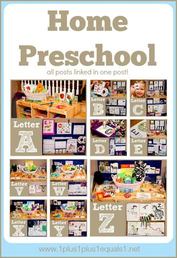 Home #Preschool A-Z from @{1plus1plus1} Carisa {all posts linked in one post}