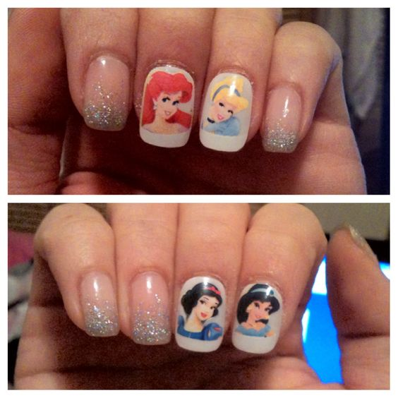 Disney Nail Art.. You know I love this