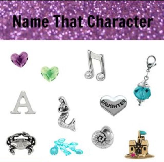 Origami Owl Name the Disney Character- Ariel