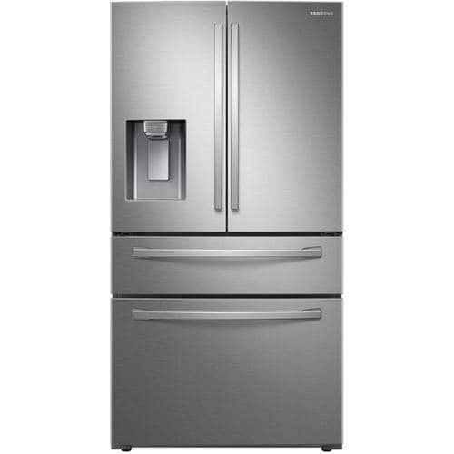 Samsung 22 6 Cu Ft 4 Door Counter Depth French Door Refrigerator With Ice Maker Fingerprint Resistant Stainless Steel Energy Star Lowes Com In 2020 French Door Refrigerator Samsung French Door French Doors