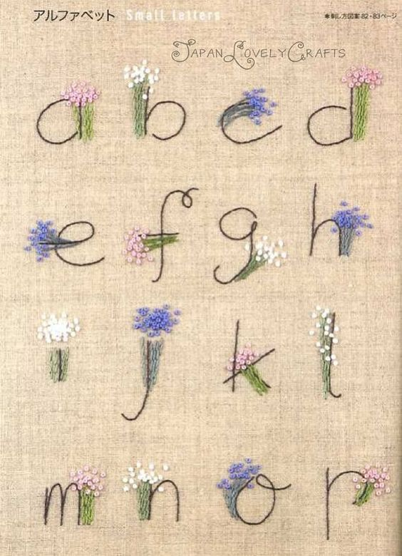 Gallery For Gt Easy Embroidery Letters