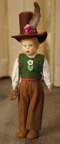 Italian Felt Miniature Doll by... Auctions Online | Proxibid