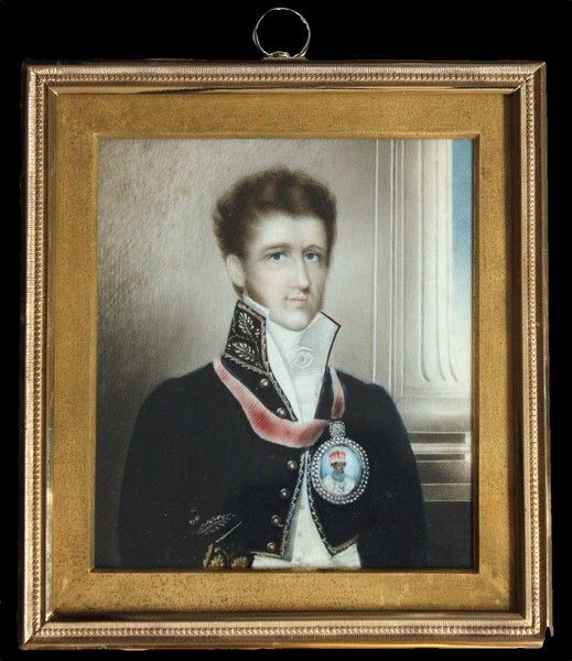 OnlineGalleries.com - An important portrait of Mordaunt Ricketts, resident at Lucknow 1822-30: