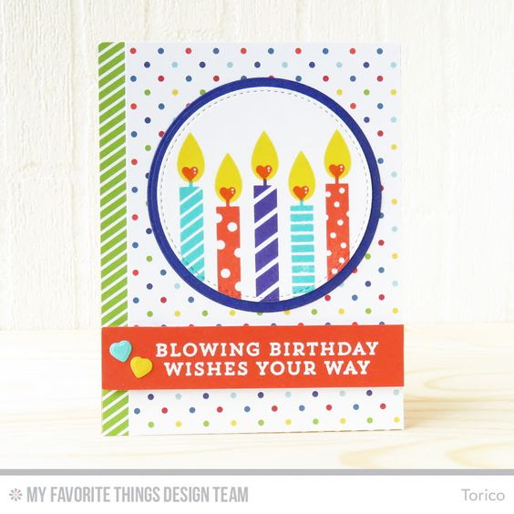 card MFT candle candles birthday STAMPARADISE: MFT June Card Kit MFT die-namics #mftstamps