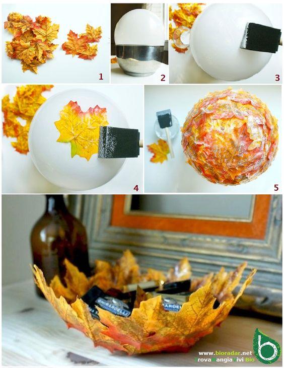 Autunno fai-da-te: idee per utilizzare foglie, rametti, ghiande e pigne: