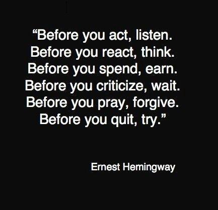 Hemingway...