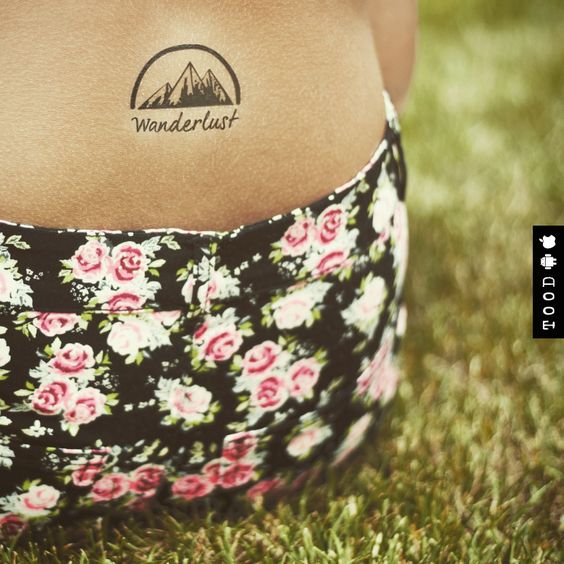 Mountain Wanderlust Temporary Tattoo