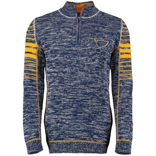 NHL St. Louis Blues Old Time Hockey Precision Quarter-Zip Pullover Jacket - Navy