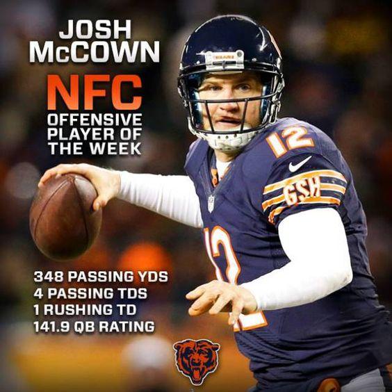 josh mccown bears jersey