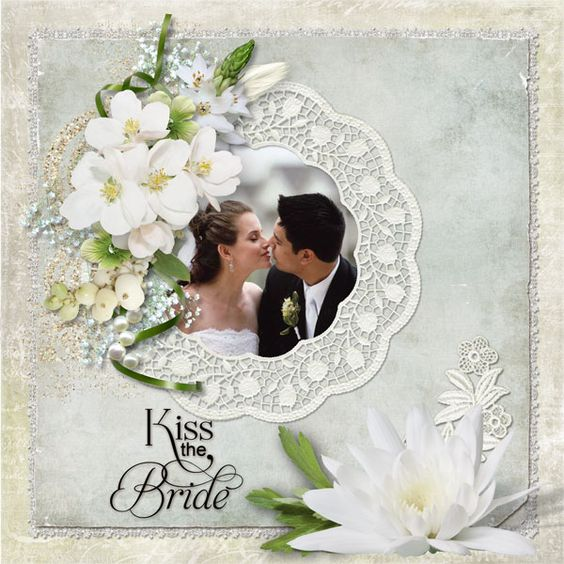 Wedding scrapbook layouts kiss the bride digital scrapbooking gallery at digitals - Scrapbooking idees pages ...