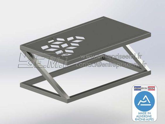 Pied De Table Basse Z Simple Design Acier Ou Inox Sur Mesure Fabriquer En France Made In Auvergne Rhone Alp Pied Table Basse Pieds De Table Table Basse Design