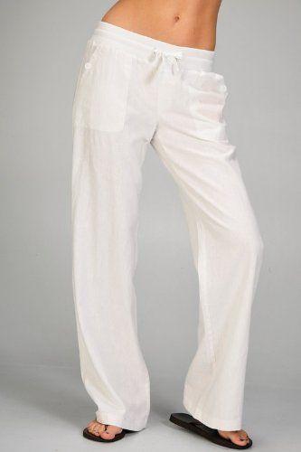 Awesome Bobi Woven Linen Drawstring Pant  Polyvore