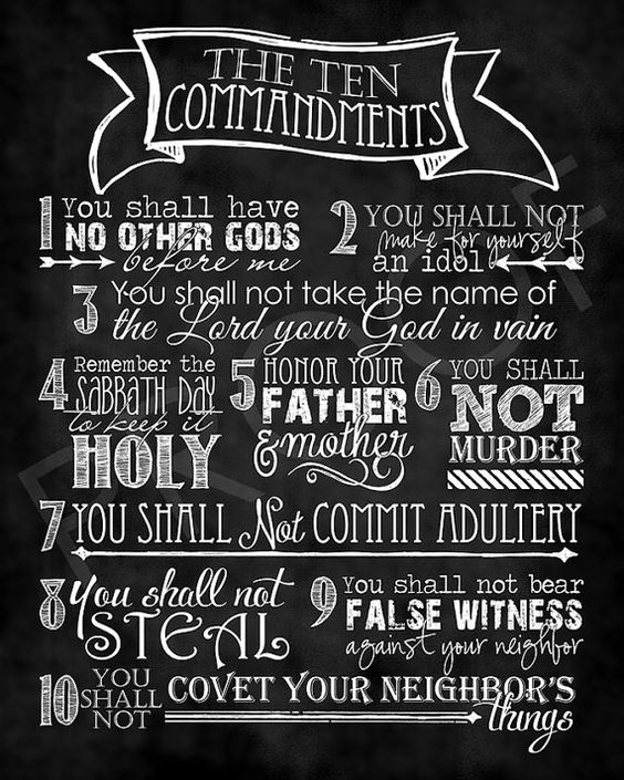 Scripture Art  The Ten Commandments  by ToSuchAsTheseDesigns: