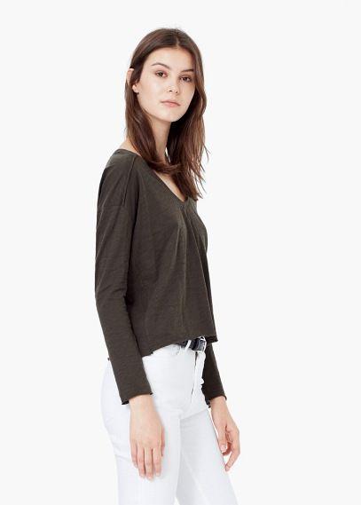 Cotton t-shirt   MANGO