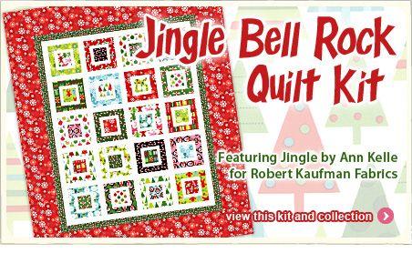 Jingle Bell Rock Quilt Kit featuring Jingle by Ann Kelle for Robert Kaufman Fabrics at the Fat Quarter Shop!