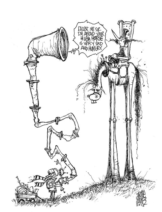 #DailySketch Boy and the High HorseOriginal sketch available in my shophttp://skottieyoungstore.bigcartel.com