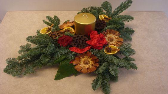 Ein mittelgroßes Weihnachtsgesteck als Tischdeko für die Adventszeit, stelle ich euch in diesem Beitrag / Videoanleitung vor. Ihr benötigt hierfür: eine Schale oder ähnliche Unterlage, 6 Pinholder,...