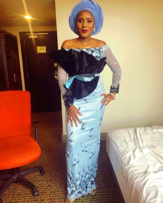 2019 Absolutely Beautiful Asoebi Long Gown Styles