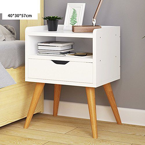 Fjiwdtgyhfgt Simple Modern Bedside Table White Drawer Tall