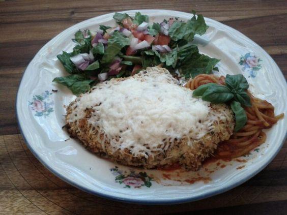 Chicken Parmesan! 1 cup of Panko Breadcrumbs, 1 teaspoons of garlic ...