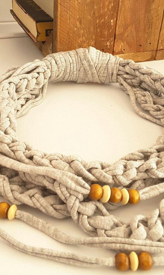 Fular-Bufanda infinita de tela de algodón con cuentas por Chulahop