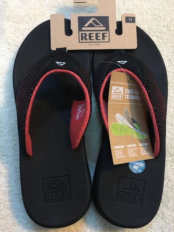 31d13456ee07 Reef Rover Men s Sandals (Color  Black Red or Black Tan) Size  1011 ...